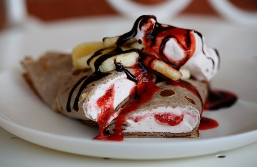 Strawberry Banana Split Crepes | The Family Meal