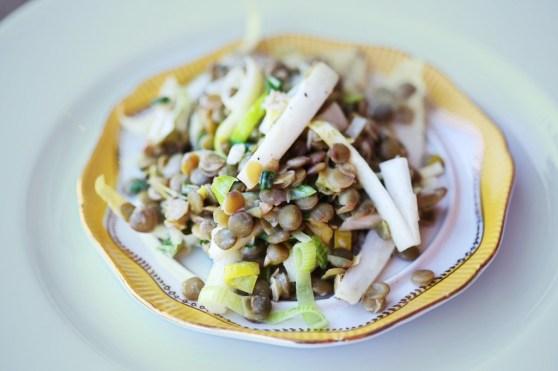 green lentil salad1