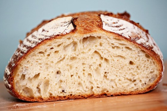 plain country bread loaf