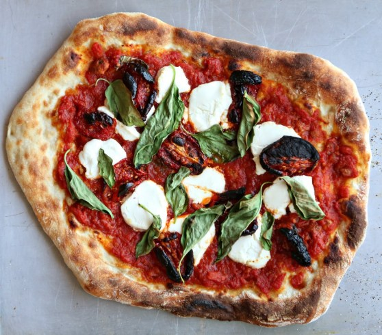 sun dried tomato, mozz and basil