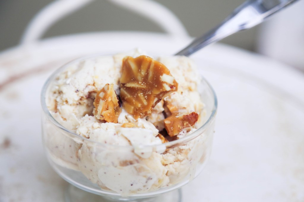 Brown Butter Almond Brittle Ice Cream | The Family Meal