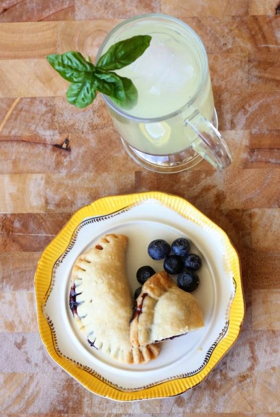 Cherry Hand Pies with Basil Lemonade