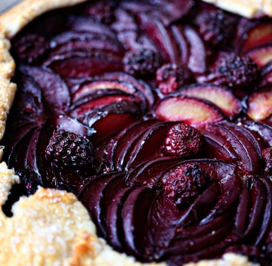 black plum galette