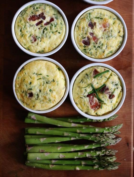 Asparagus custards