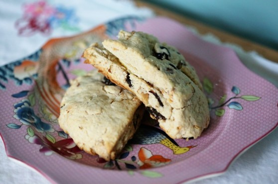 Cherry Almond Scones with butter