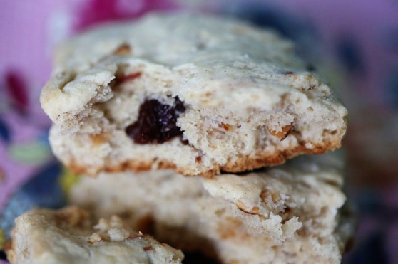Cherry Almond Scones with Vanilla Bean
