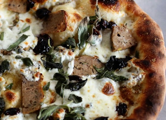Sage, Duck and Cherry Pizza