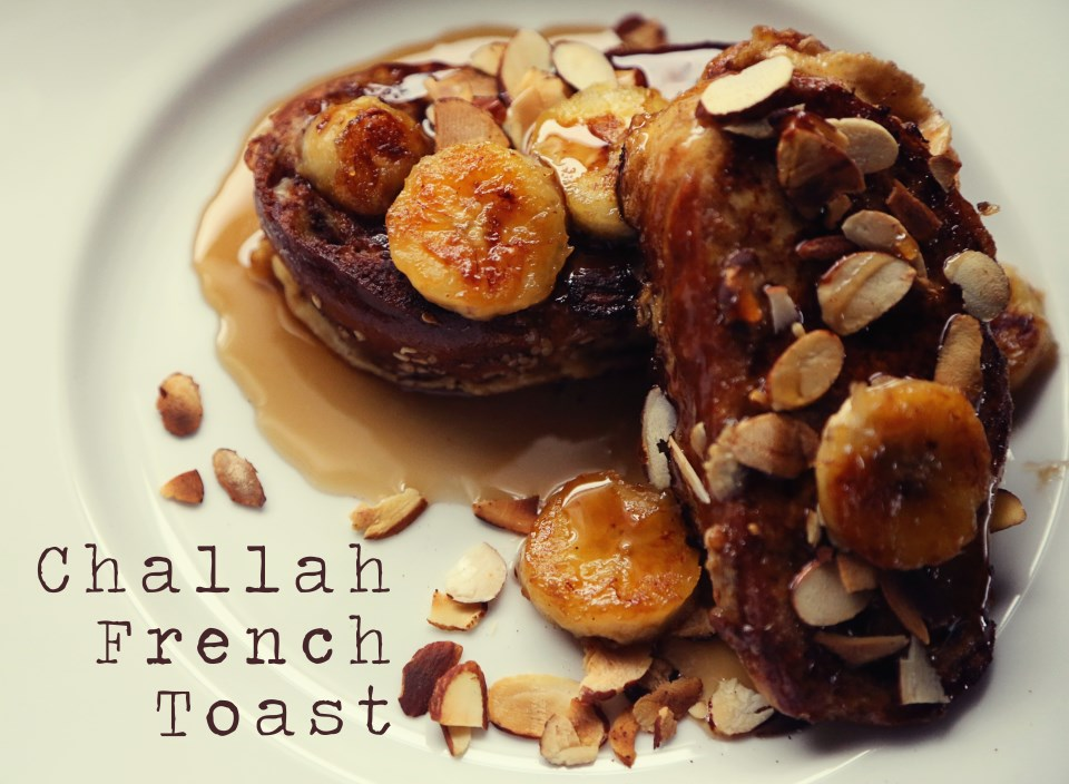 Challah French Toast with Caramelized Bananas and Toasted ...