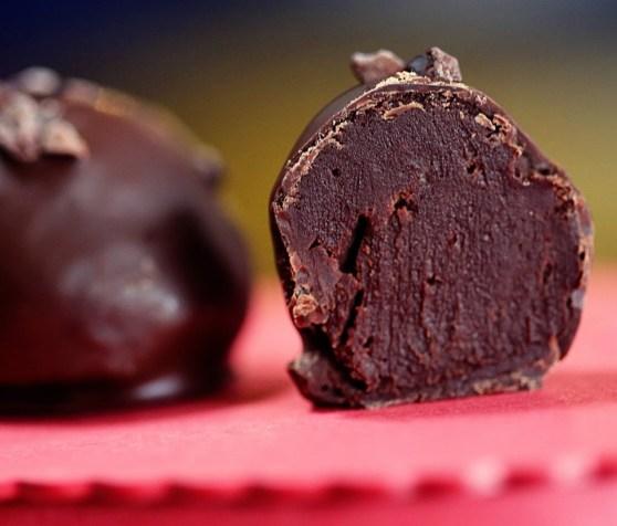 Dark Chocolate Truffles with Whiskey