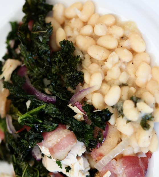 White Beans and Kale with Bacon