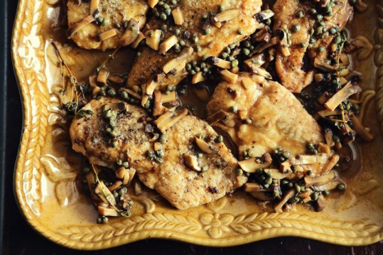 Chicken Piccata with Thyme and Mushroom