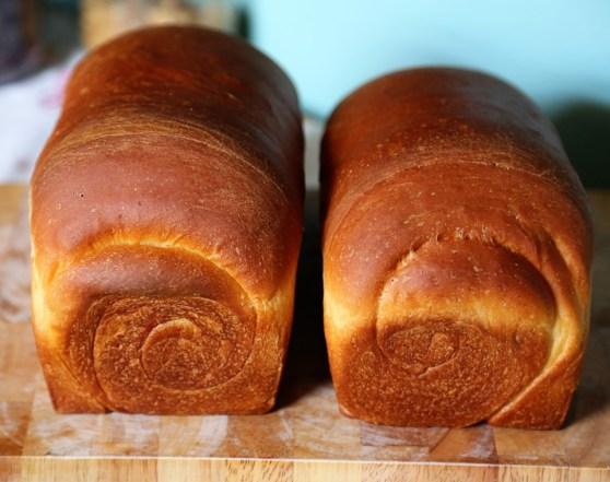 Two Loaves of Sweet, White Sandwich Bread