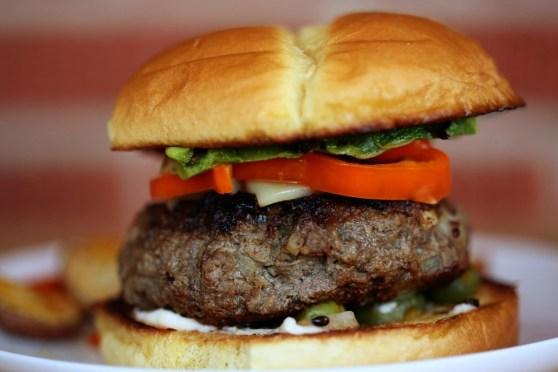Buffalo Burgers with Avocado and Swiss