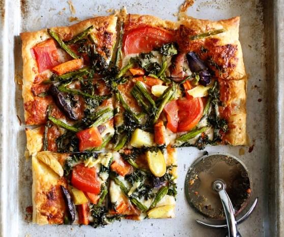 Leftover Veggie Pizza