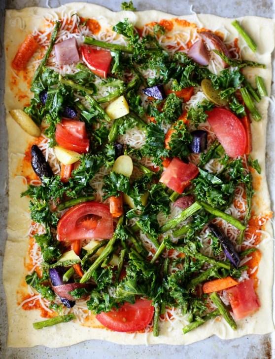 unbaked Veggie Pizza