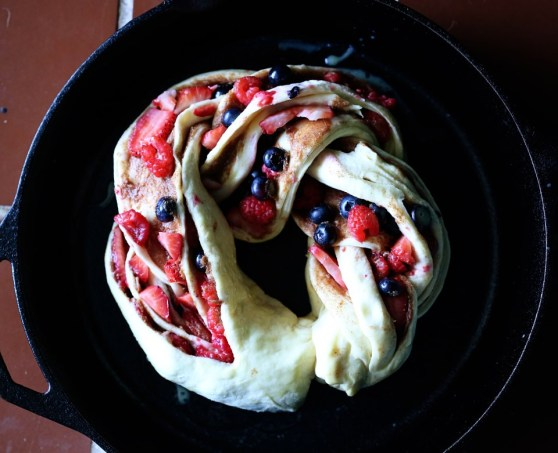 Uncooked Triple Berry Cinnamon Swirl Bread