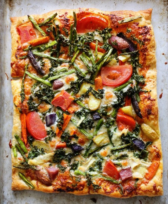 Vegetable Pizza on Puff Pastry