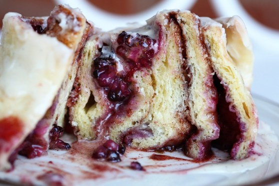 Blackberry Lime Cinnamon Roll - cross section