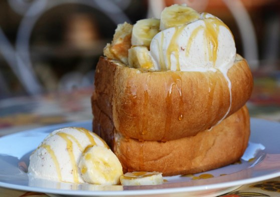 Japenese Milk Bread Bowl with Brown Butter Ice Cream