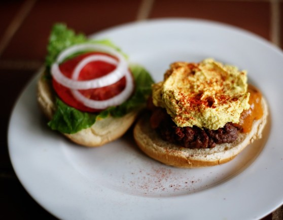Deviled Egg Burger Spread
