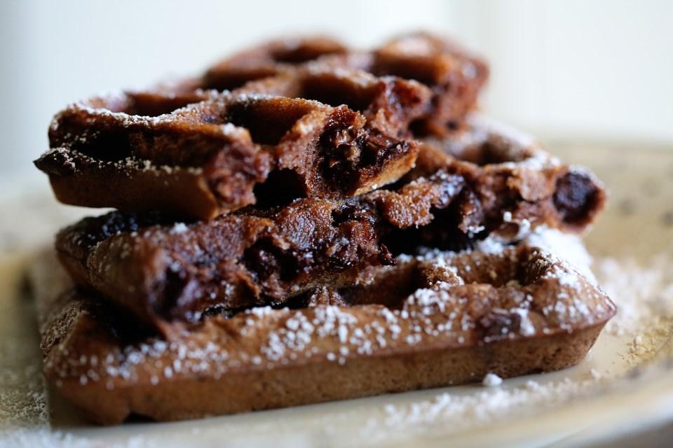 Double Dark Chocolate Waffles