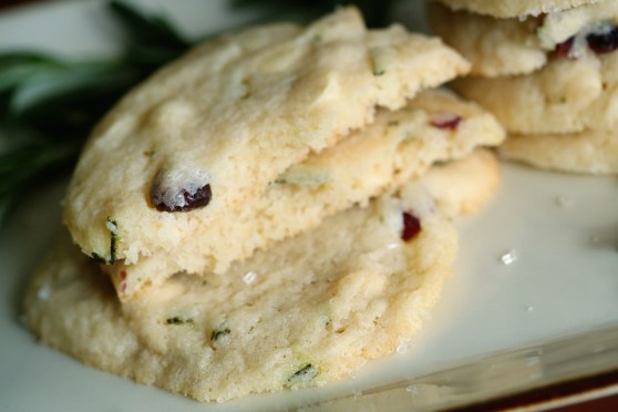 Cranberry Rosemary White Chocolate Cookies