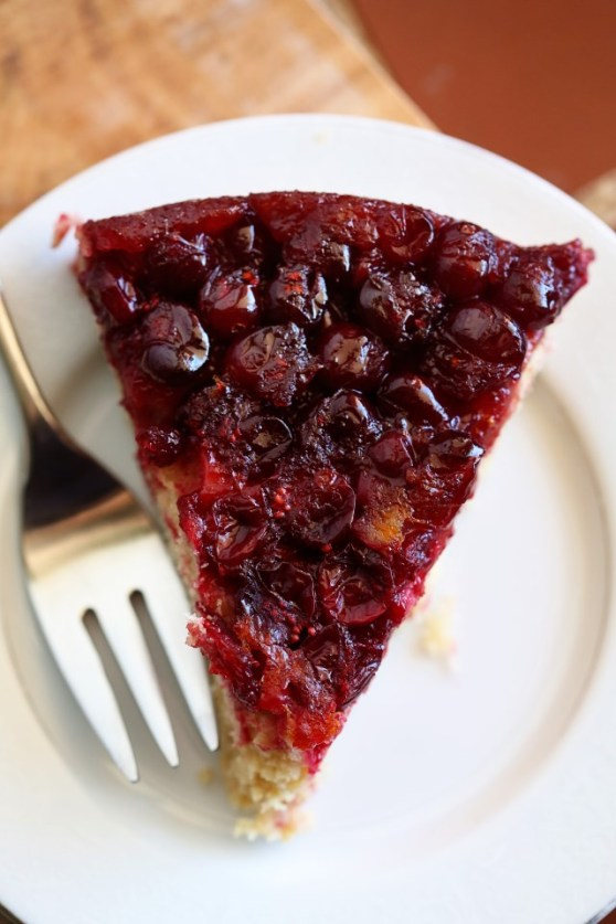 Cranberry Upside Down Cake with Orange Zest