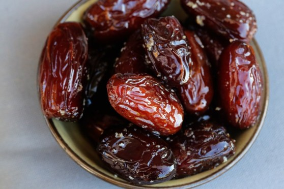 warm dates with olive oil and salt