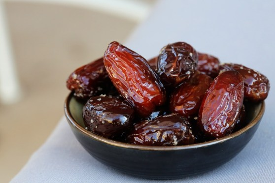 Warmed Dates with Olive Oil and Kosher Salt