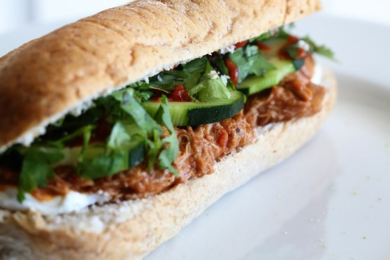 Shredded Chicken Tikka Sandwich