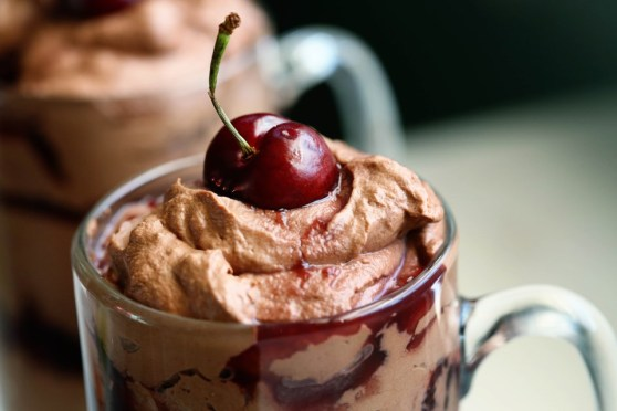 Dark Chocolate Cherry Parfaits