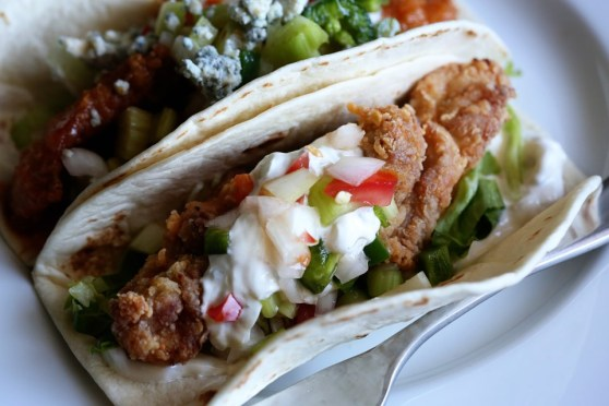 Fried Chicken Taco with Pico