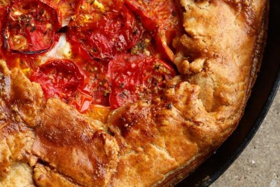 Deep Dish Rustic Tomato Pie
